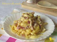 Fettuccine alla papalina ricetta originale romana il chicco di mais