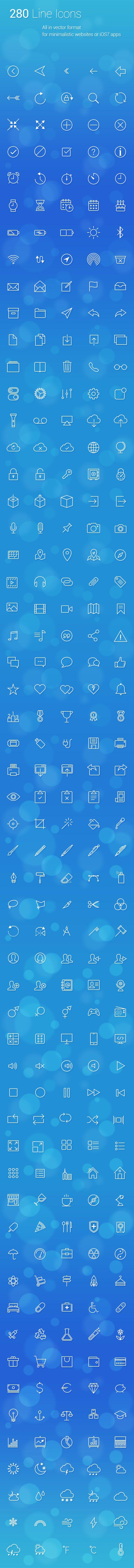 280 uniquely designed vector line icons  https://gumroad.com/l/orbG