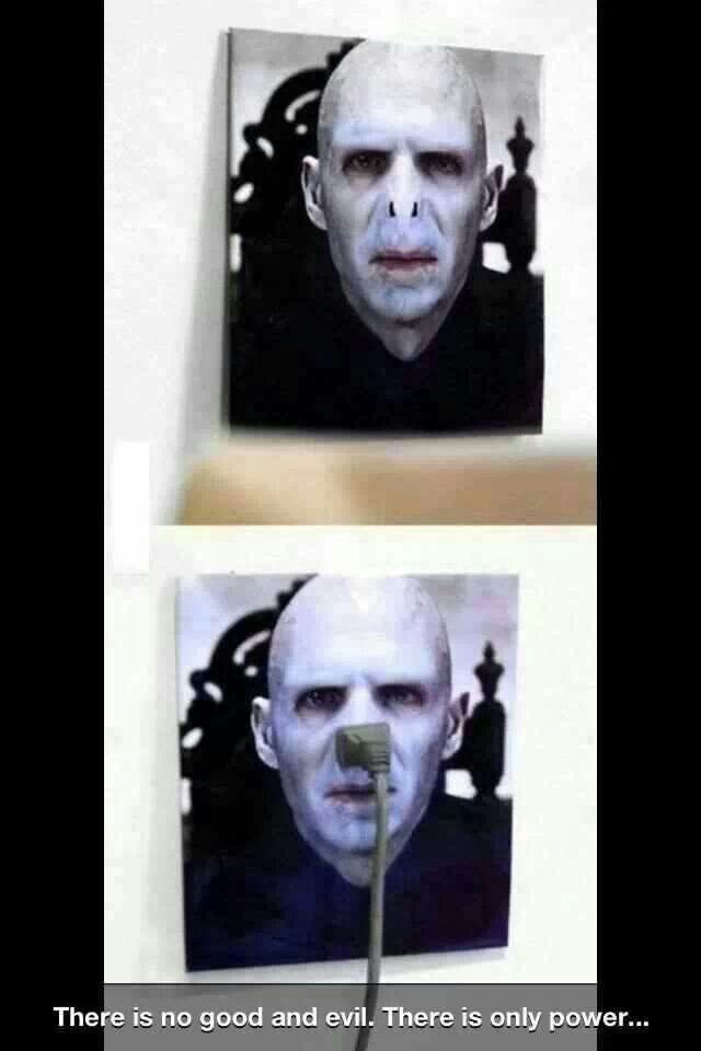I knew Voldemort's lack of a nose had to be good for SOMETHING!