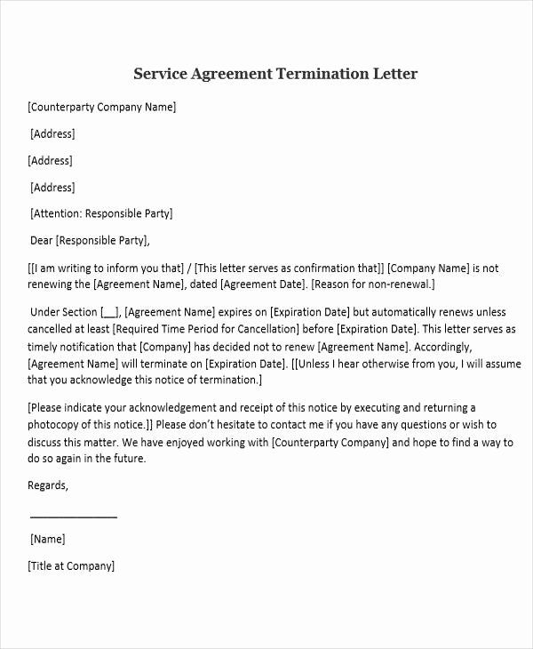 Service Contract Termination Letter Template Luxury 31 Sample Service Letters Lettering Cover Letter Template Free Professional Cover Letter Template