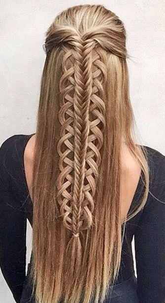 Half up hald down fishtail braid #gorgeoushair