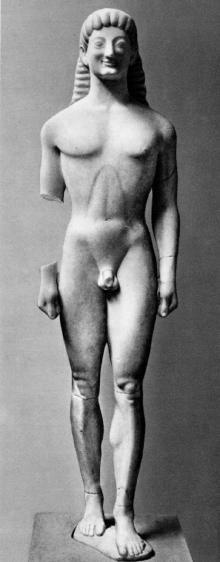 Apollo z Tenei - grecki okres archaiczny, VI w p.n.e.