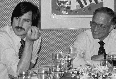 Steve Jobs with His Mentor, Robert Noyce of Intel