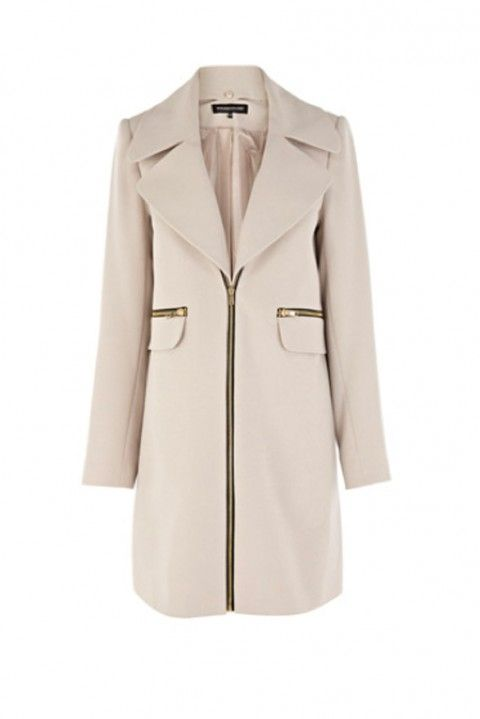 Warehouse Removable Collar Zip Coat, £100 - Winter Coats