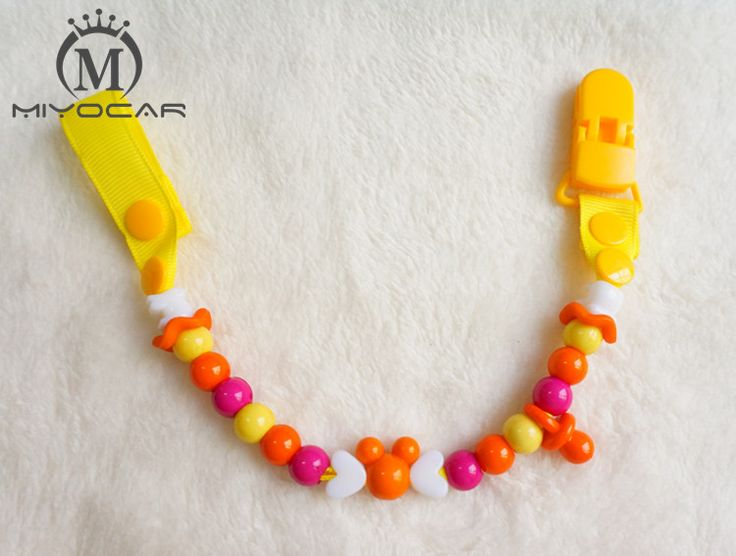 MIYOCAR Baby safe colorful funny beads hand made pacifier chain /pacifier clips/Dummy clip/Teethers clip /pacifier holder