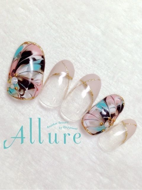 Japanese nail art butterfly