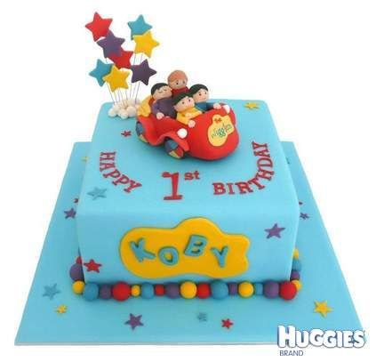 What an awesome 1st Birthday Wiggles Cake!