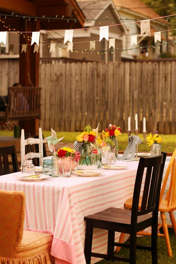 Lovely Outdoor Surprise Party I Did This Weekendon A Budget
