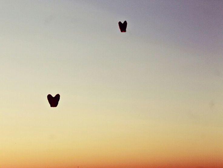 Rewal, heart, sky, sunset