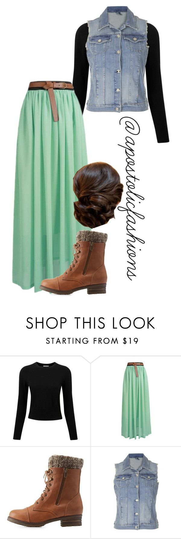 """Apostolic Fashions #1108"" by apostolicfashions on Polyvore featuring Pure Collection, Charlotte Russe and Topshop"