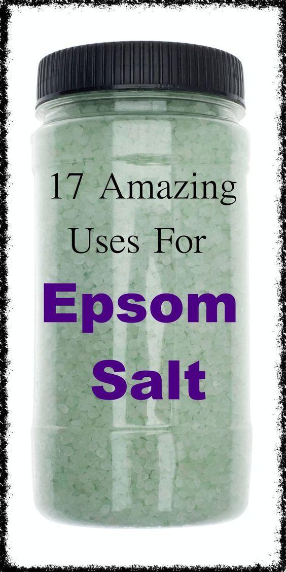 17 amazing uses for epsom salt some you won t believe tips tricks pinterest salts and. Black Bedroom Furniture Sets. Home Design Ideas