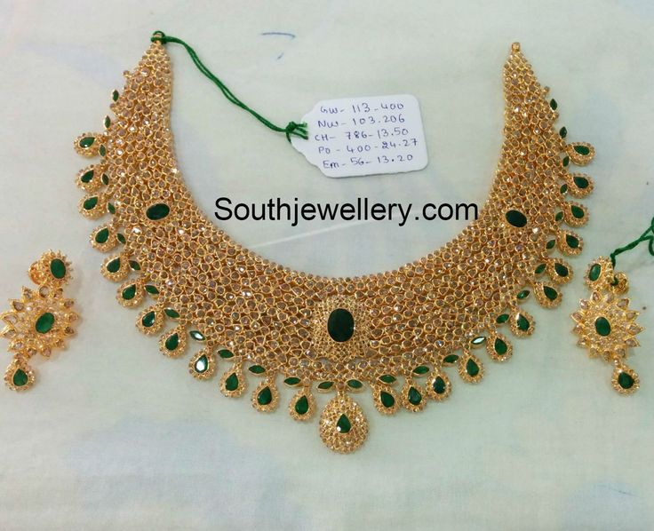Uncut Diamond Necklace latest jewelry designs - Page 9 of 40 - Jewellery Designs