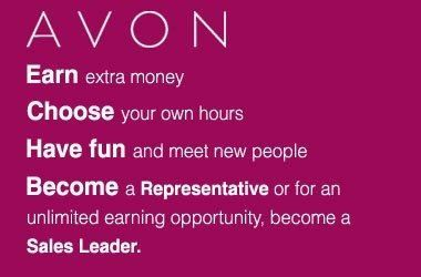 Are you ambitious?  Would you like the opportunity to earn a long-term income?  Are you excited by the idea of recruiting, managing and motivating your own team?  Yes! Then being a self-employed Independent Avon Sales Leader is the opportunity for you! To BUY or Sell go to http://clarasosa.avonrepresentative.com