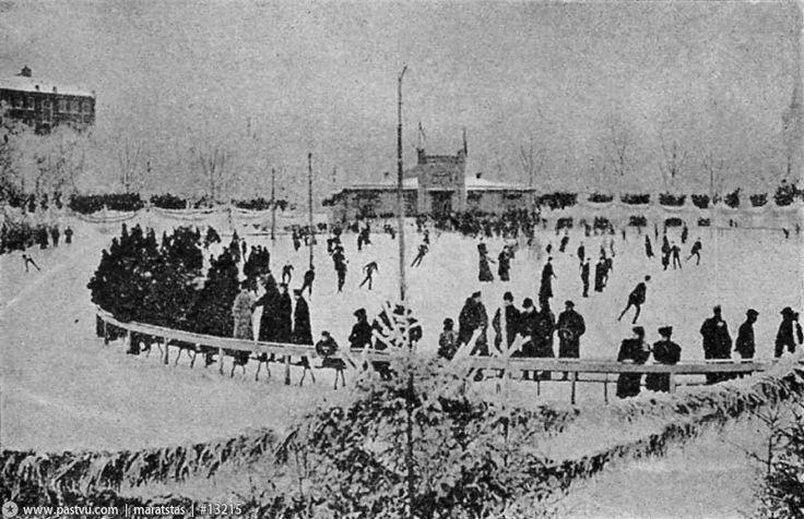 Фотография - Патриаршие пруды. - Фотографии старой Москвы 1909 год