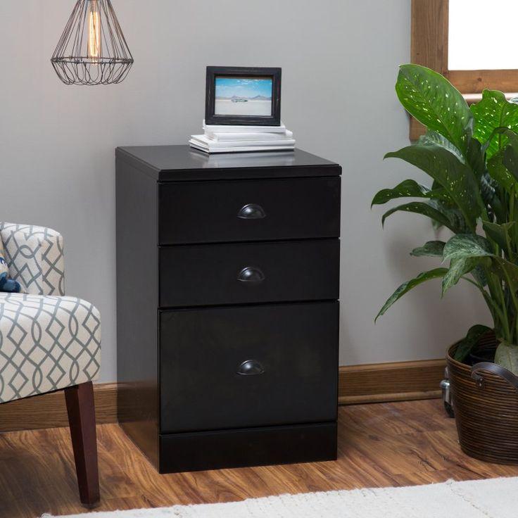 belham living cambridge 3drawer wood file cabinet black cs50318
