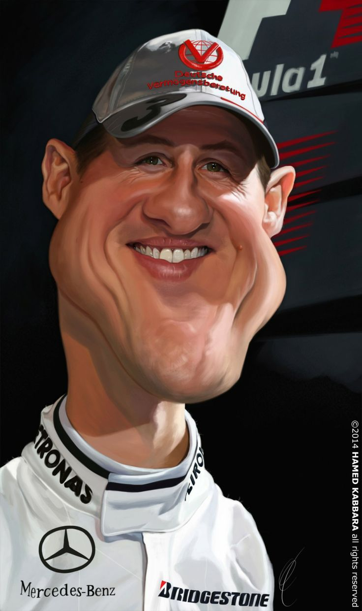 Caricatura de Michael Schumacher FOLLOW THIS BOARD FOR GREAT CARICATURES OR ANY OF OUR OTHER CARICATURE BOARDS. WE HAVE A FEW SEPERATED BY THINGS LIKE ACTORS, MUSICIANS, POLITICS. SPORTS AND MORE...CHECK 'EM OUT!! Anthony Contorno Sr