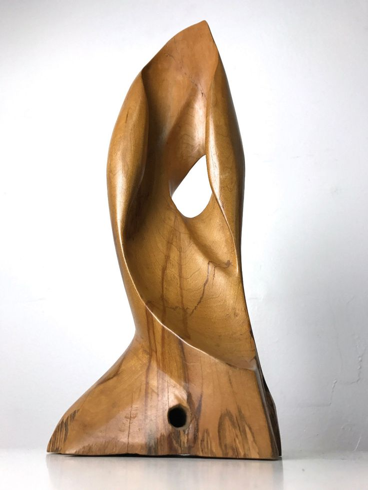Details About Vintage Carved Wood Abstract Biomorphic