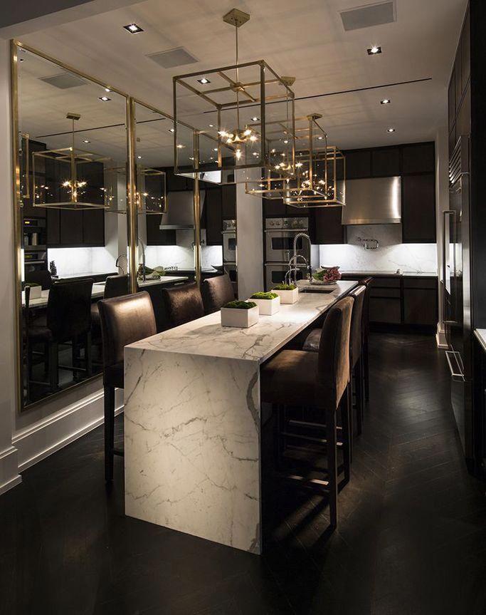 Luxury Black Marble Kitchen Bestkitcheninterior Modern Kitchen Lighting Luxury Interior Luxury Kitchens