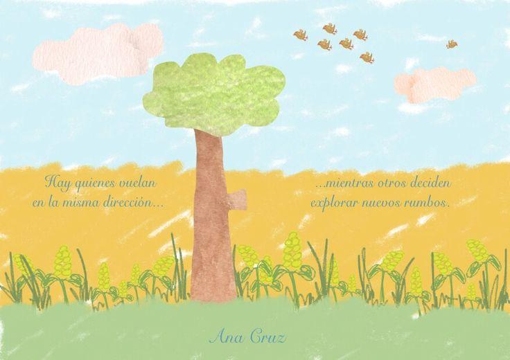 Acuarela # mindfulness# dibujo # naturaleza #pájaro #libertad
