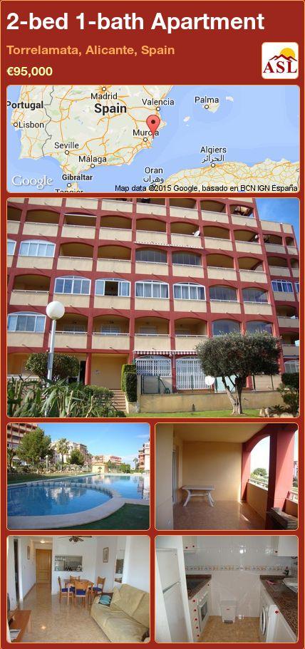 2-bed 1-bath Apartment in Torrelamata, Alicante, Spain ►€95,000 #PropertyForSaleInSpain