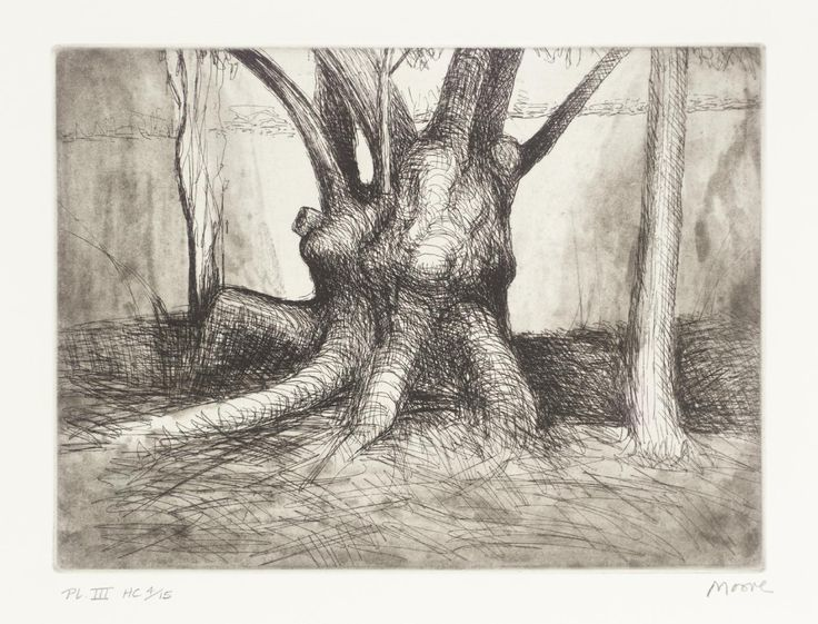 Henry Moore OM, CH, 'Trees III Knuckled Trunk' 1979