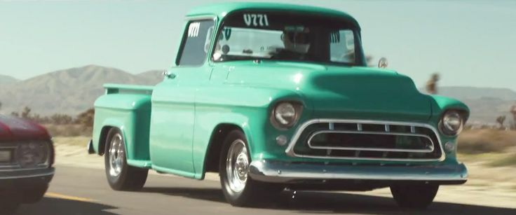 Chevrolet 3100 (1957) pickup truck in SUMMER by Calvin Harris (2014) @Chevrolet
