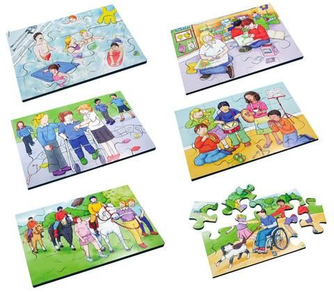Very #colourful puzzles depicting #music, #reading, #riding, #swimming, #play & #walking the #dog #Educational #Business #familybusiness #Family #wooden #British #Handmade #Children #gifts #toys #Christmas #jigsaw #puzzles #children #parenting #parents #childhood #places #sights #views #british #england #derby #madeinengland #madeinbritain