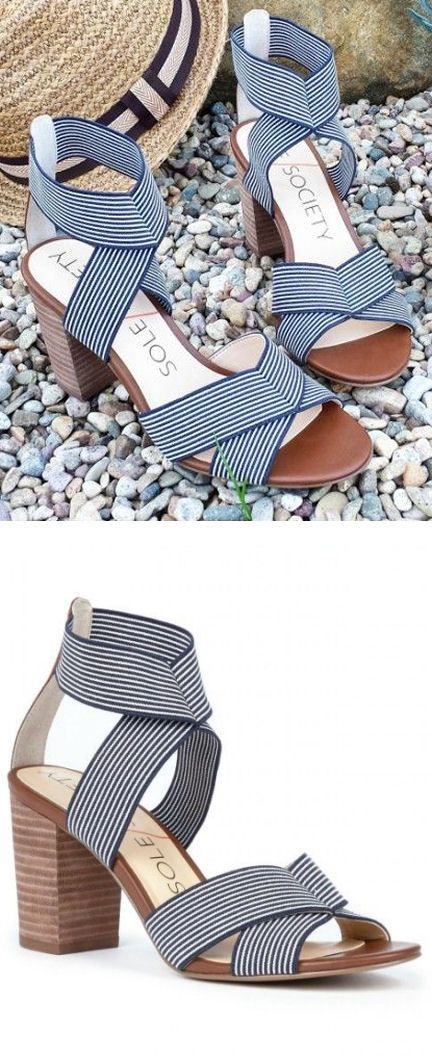 Comfy & cUte Strappy Heels // #stripes #nautical #summer