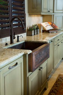 Country French in College Station, Texas traditional kitchen