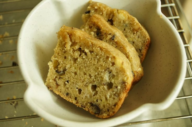 Journal of a nutritionist mom : Banana and walnut cake (bread maker)