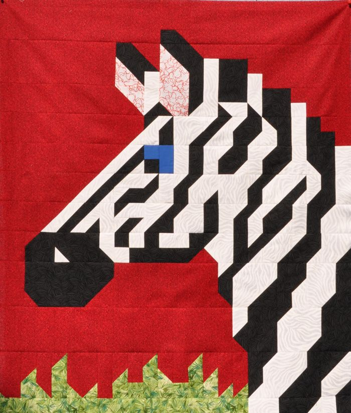 Zebra Quilt Pattern CQ-022 (advanced beginner, baby, wall hanging, lap and throw)
