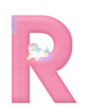 Letras con Unicornios Abecedario para descargar gratis   Todo Peques