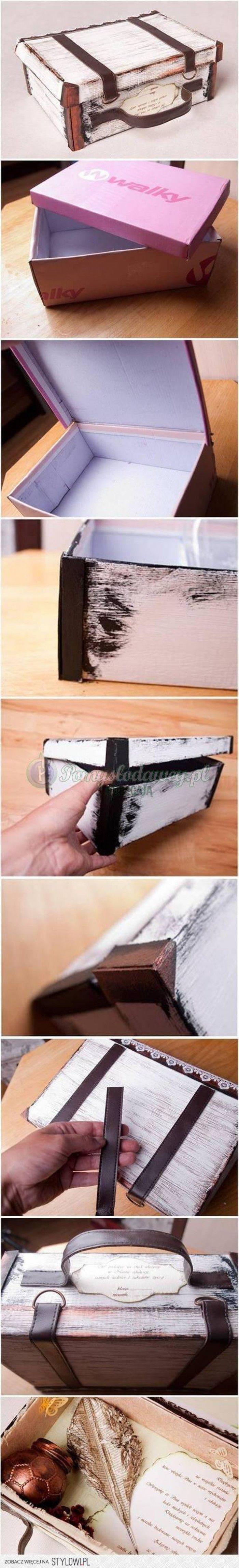 oude doos zelf maken van schoendoos