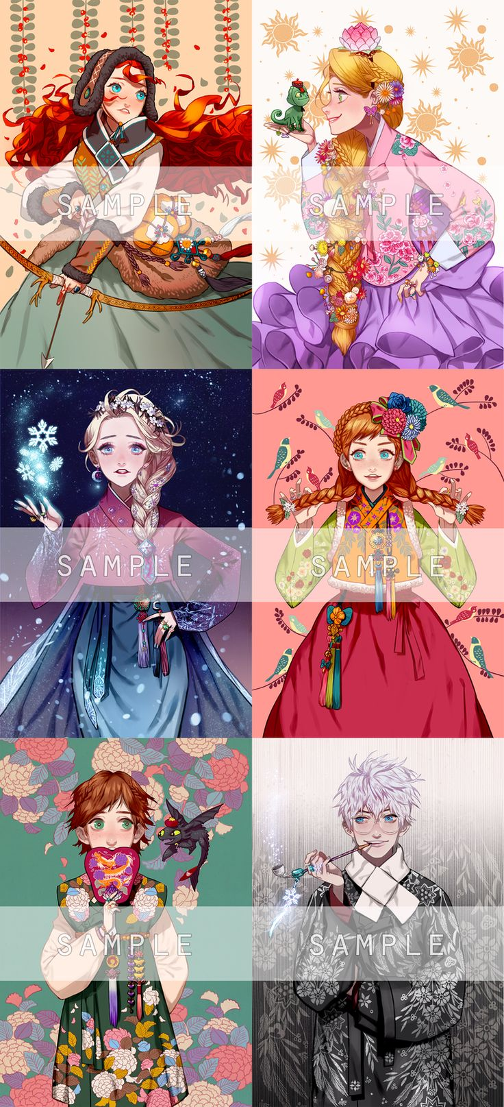 Talented Artist Draws Disney Princesses in Korean Hanboks 엘사안나+빅포 한복 6종세트 통판 안내 : 네이버 블로그