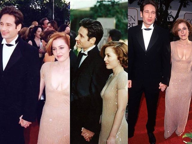 #Repost @luicaralex12_xfiles4ever  Just holding hands #thexfiles #gilliananderson #davidduchovny #grammys