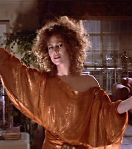 Sigourney Weaver as Dana Barrett in Ghostbusters.  The best part of her role was when she was possessed by Zuul.