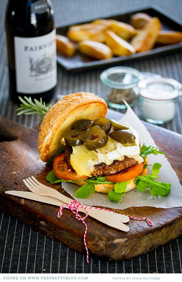 Beef - yes!  Brie - yes!  Green figs - ?  Worth a try...  Make necessary changes within recipe to make gf and healthy fats, etc.