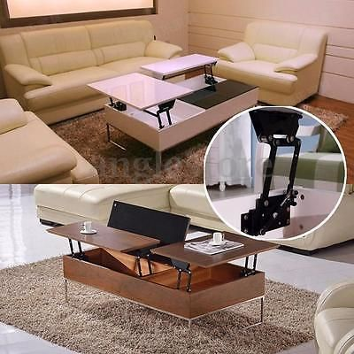 Lift Up Top Coffee Table Fitting Furniture Mechanism Spring Hinge DIY Hardware