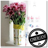 SommerSause: Genähte Vasen aus Tetrapacks