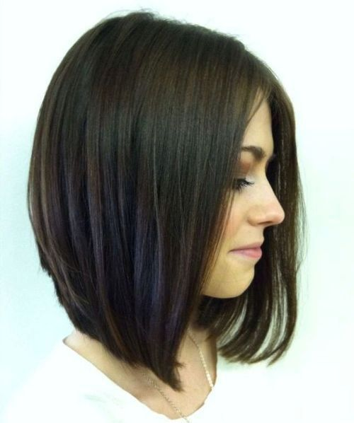 Forward-Angled Bob Without Bangs