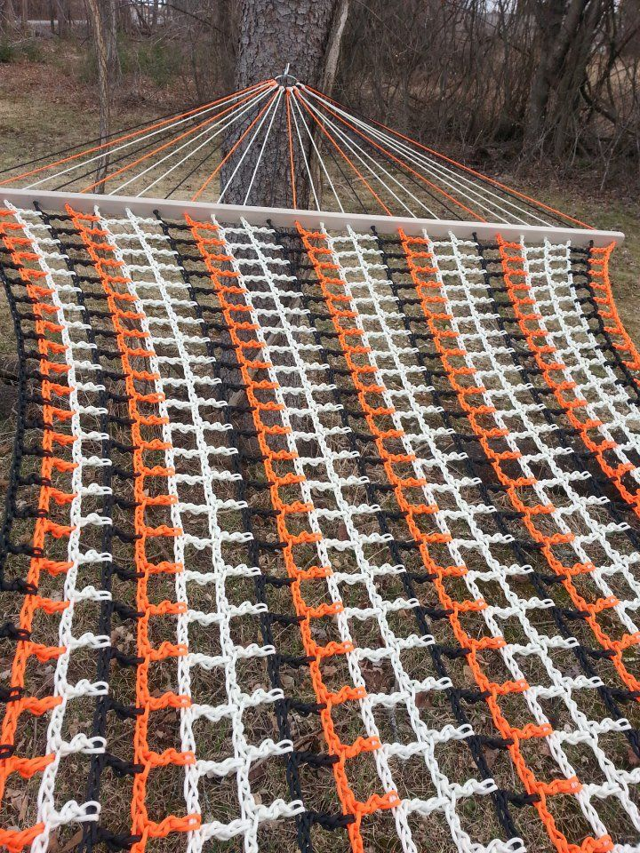 Custom Made, Double-Wide Paracord Hammocks. 13'L X 5'W. Get yours today at http://www.LackadaisyHammocks.com