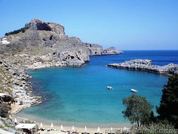 The east coast of Rhodes Island - Sent Paul Bay - Lindos