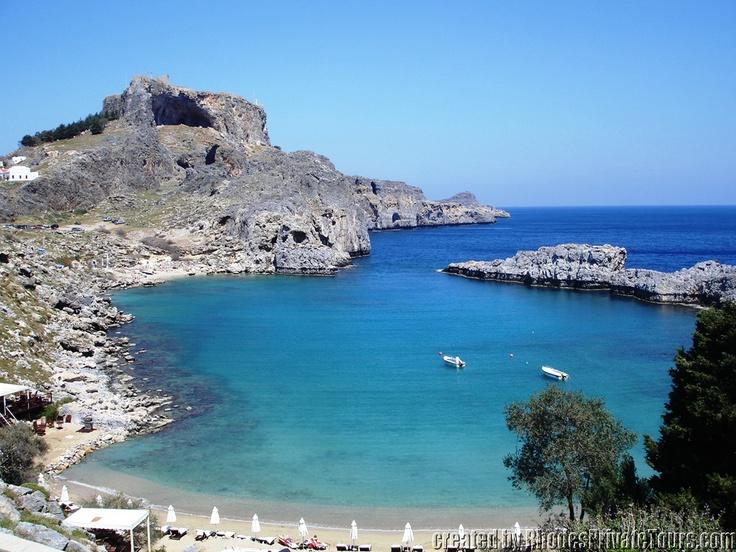 The east coast of Rhodes Island - Sent Paul Bay - Lindos