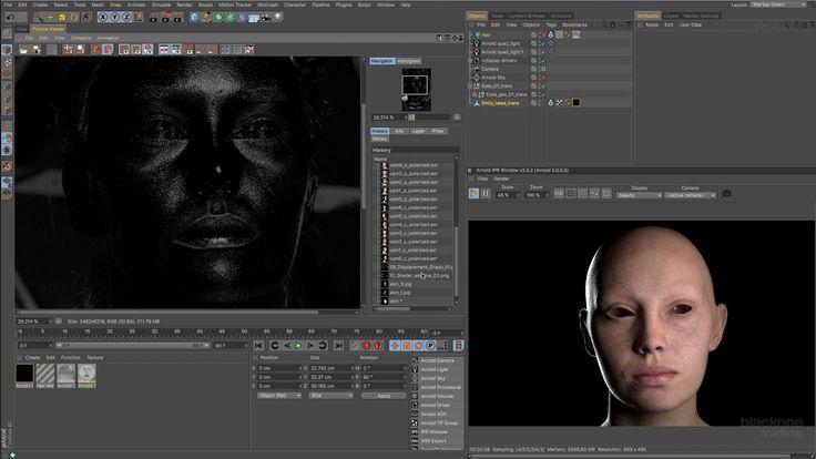 Curso Arnold Render sobre Cinema 4D -  11.- Piel realista