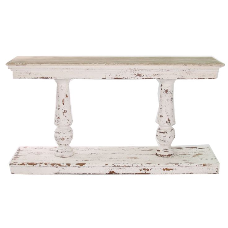 Superior The Bold Heavily Distressed Look Will Really Shine With Your Rustic Decor. Distressed  White French · French Console TableConsole ...