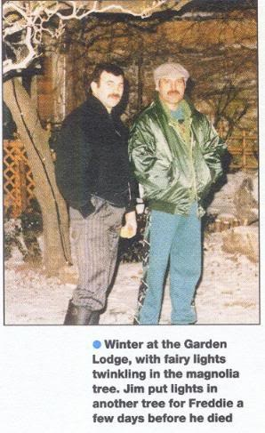 Freddie Mercury and Jim Hutton