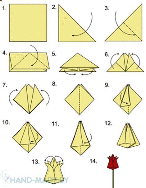 Tulipan de origami paso a paso 2