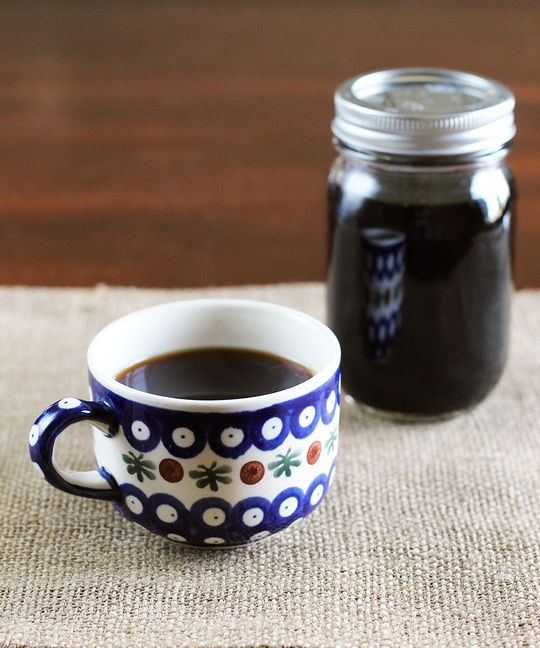 How To Make Coffee Concentrate to Serve Coffee to a Crowd ~ Makes about 1 quart of concentrate (about 3 quarts brewed coffee) also great to know when power is down for energy saving weather using BBQ or ??? for hot water.