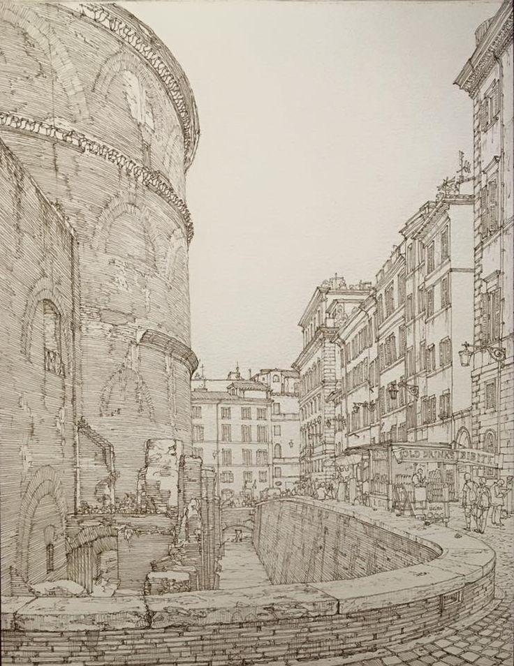 (1) Максим Атаянц - Вот, съездил на пару дней в Рим. Рисовал там такую...