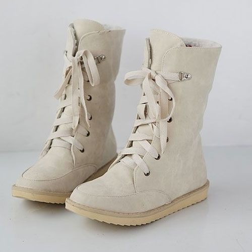 Adorable Flat Lace-up Boot